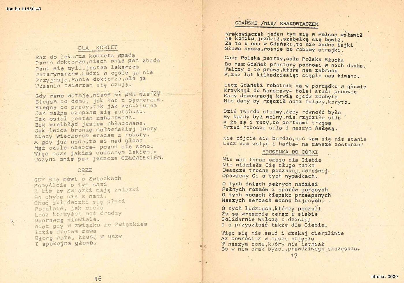 Wiersze Sierpień 1980 R Fotografie I Grafiki Wolne